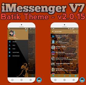 BBM iMessenger v7 Batik Transparan Unclone apk