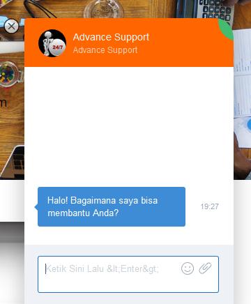 live chat dari web hosting provider