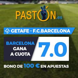Paston Megacuota 7 Liga Barcelona gana Getafe + 100 euros 16 septiembre
