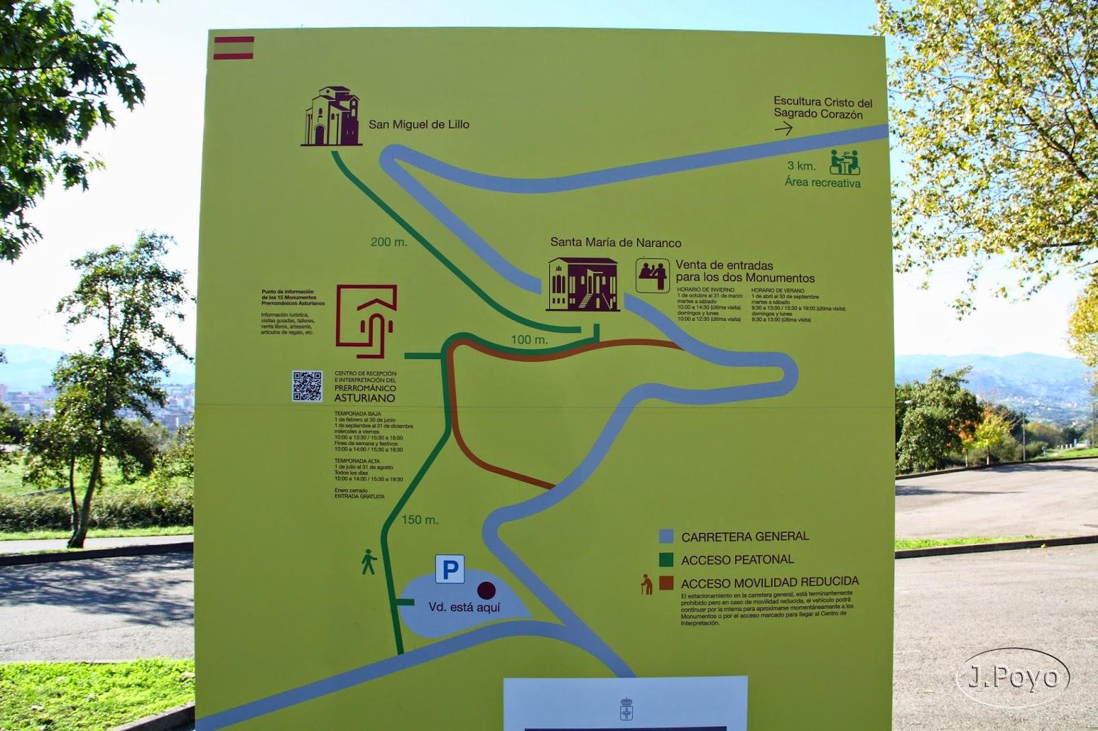 centro de interpretación del Prerrománico asturiano, Monte Naranco