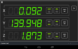 Android Digital Readout Application