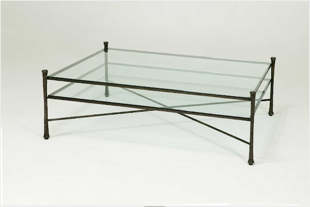 Cool Iron And Glass Coffee Table