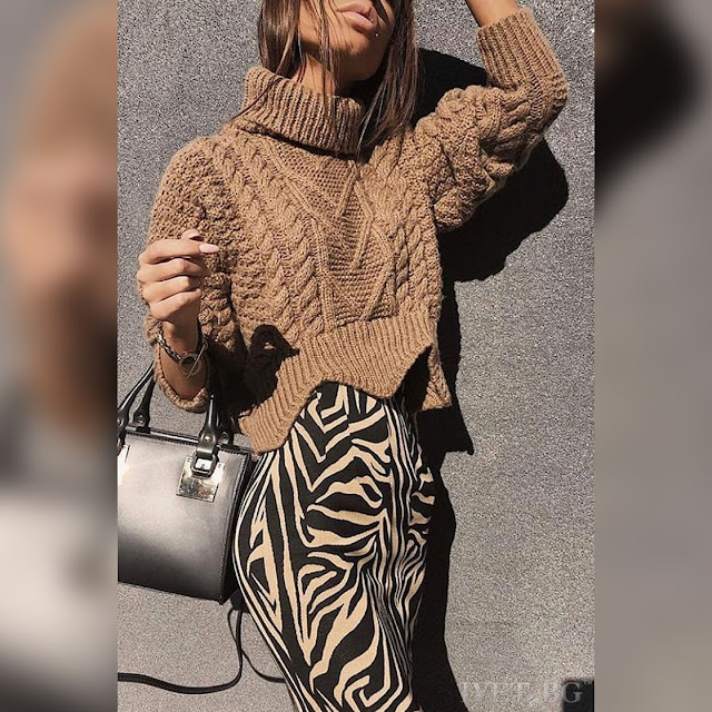 Μακρυμάνικο γυναικείο  μπεζ πουλόβερ SIENA