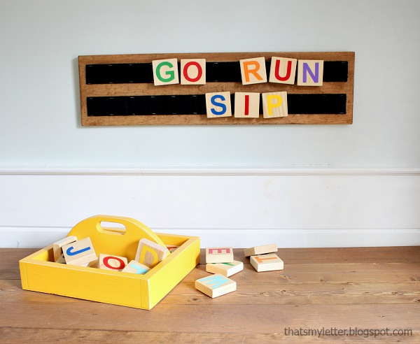 DIY wood letters play board