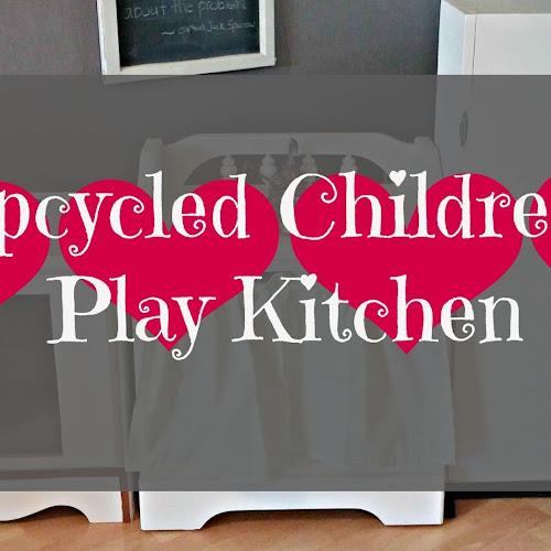 Upcycled Children's Play Kitchen