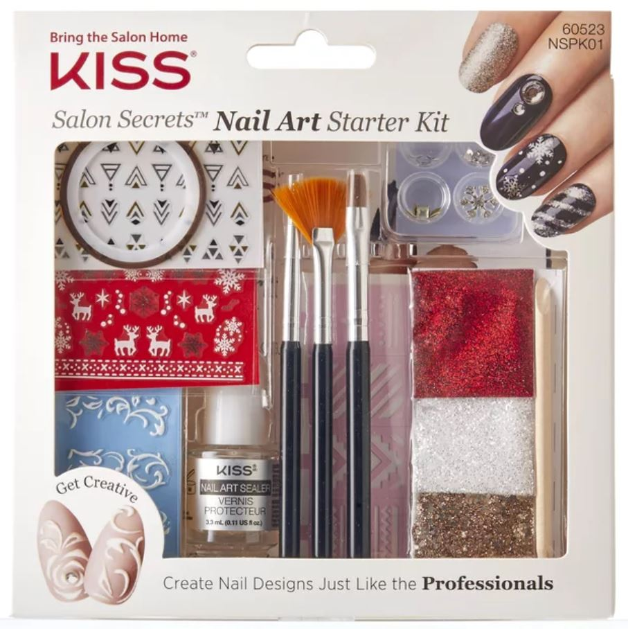 Nail Striping Tape Walmart: Nails Get Festive With Kiss Salon Secrets Nail Art Starter