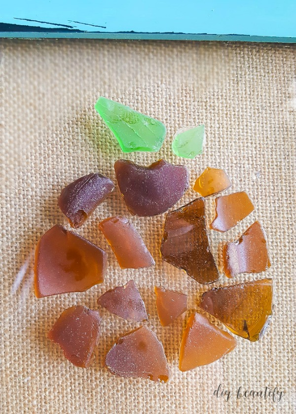 how to make a beach glass pumpkin