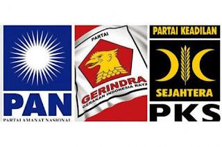 Partai Gerindra,PAN dan PKS Bakal Bareng Sampai 2019