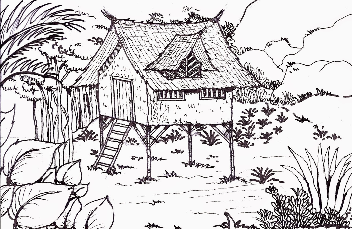 Native House In The Forest