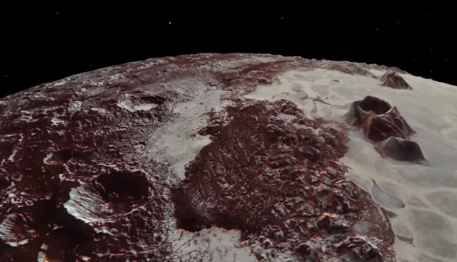 NASA video soars over Pluto's majestic mountains and icy plains