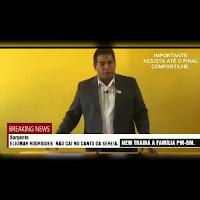 Irritado, Sgt Eliomar Rodrigues, diz que não sucumbirá à pressão da velha política corrupta candanga.