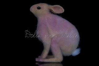 ooak needle felted woolen rabbit bunny hare