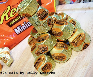 Reese's Puffs Treat Bars with Reese's Miniatures