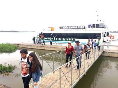 Travessia com catamarã Ilha - Iguape fez sucesso durante festejos de Bom Jesus
