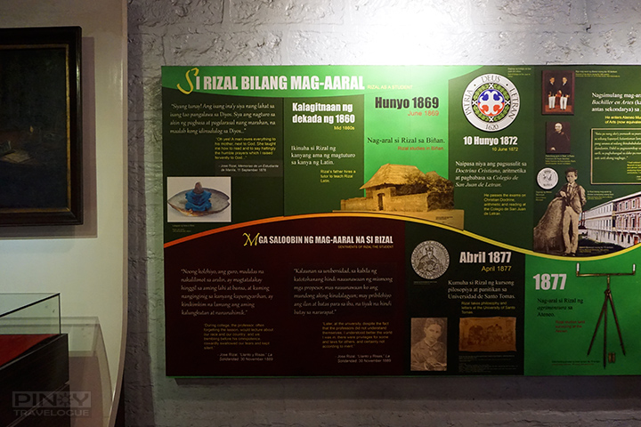 Chronology of Jose Rizal's education