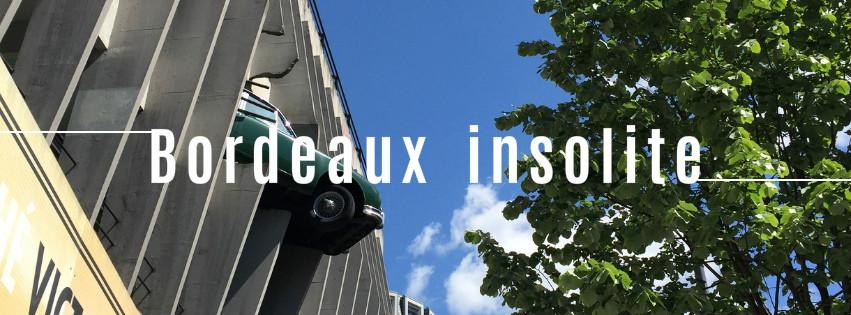 Bordeaux insolite voiture qui tombe