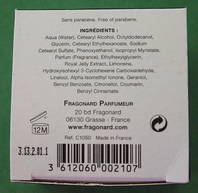 Крем для лица с маточным молочком от Fragonard