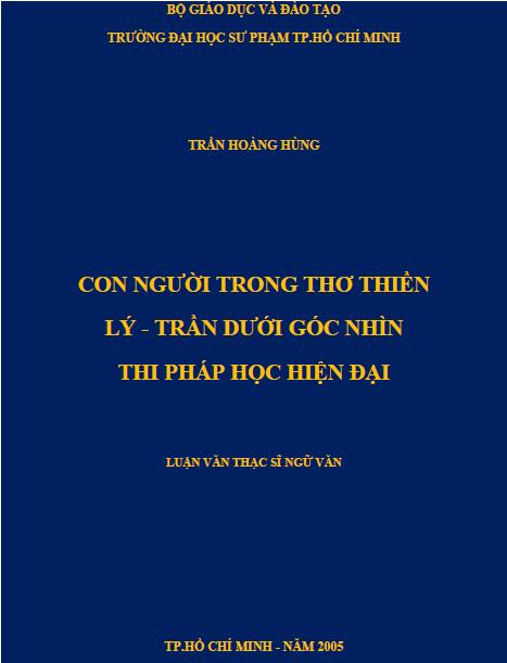 Con người trong thơ thiền Lý - Trần dưới góc nhìn thi pháp học hiện đại