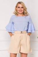 Bluza de vara LaDonna bleu cu decupaj pe spate