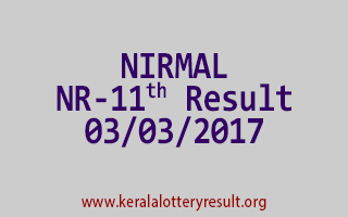 NIRMAL Lottery NR 11 Results 3-3-2017