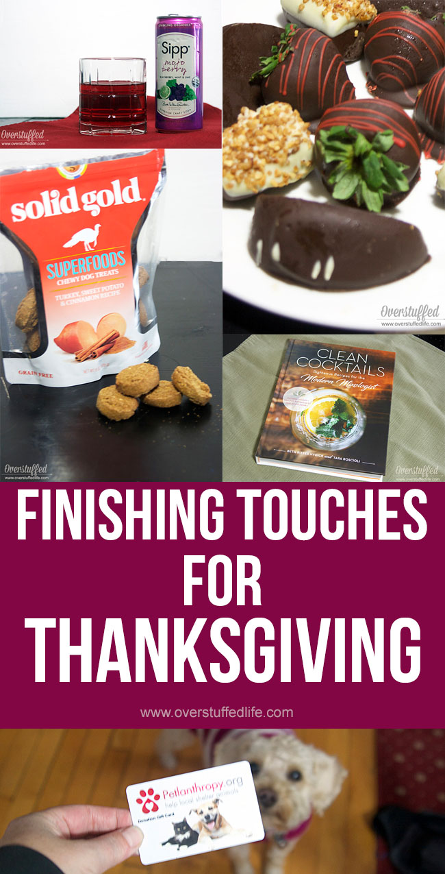 Make your Thanksgiving Day better than ever this year with these last minute finishing touches.