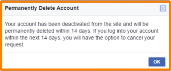 how do i delete my facebook account with permanently deleting it