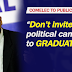 No Political Candidates in School Graduations