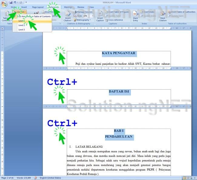 Cara Membuat Daftar Isi Makalah Di Word - Solution ngNET