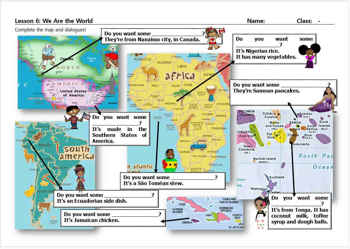 We Are The World Worksheet To Accompany The Ppt Mrs