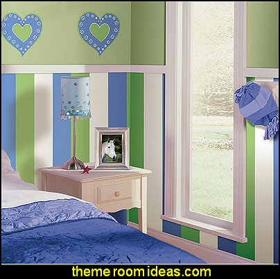Blue Stripes wall decals striped wallpaper  stripes on walls - striped decorating ideas - stripe wall decals - stripes bedding - stripes wallpaper - stripe theme baby nursery - decorating with stripes - striped rooms - painted stripes - striped walls - stripe bedding - stripe pillows - striped decorations