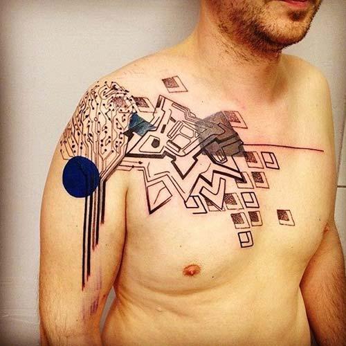 erkek omuz dövmeleri man shoulder tattoos 11