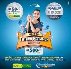 Promoção Fatura Premiada BandCard Cartão Bandeirante Supermercados 2019
