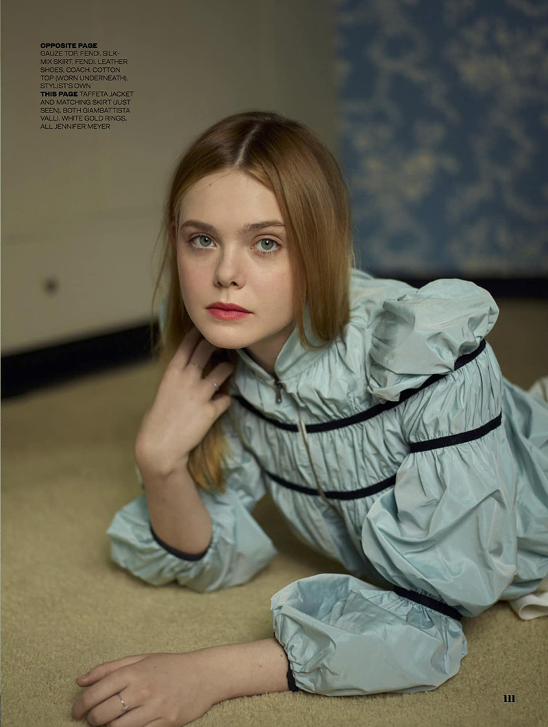 Elle Fanning by Thomas Whiteside for Elle UK February 2017