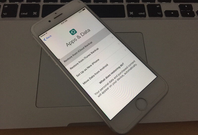 restore iphone 7 from icloud