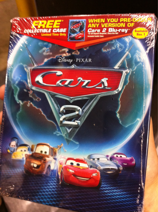 Blu Ray Dvd Exclusives Cars 2 Best Buy Exclusive Collectible Case Steelbook Bd