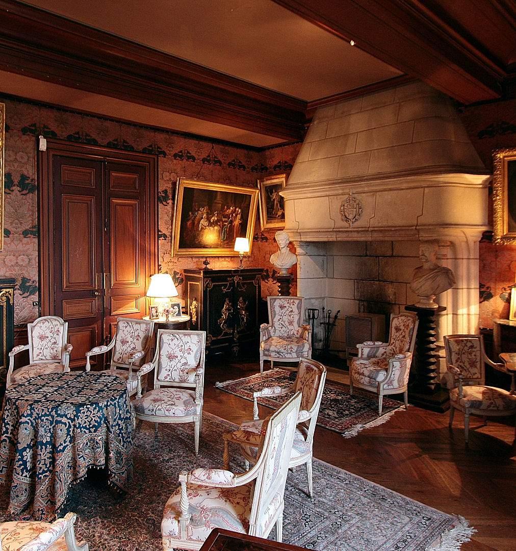 Castelo de Montrésor, França, interior