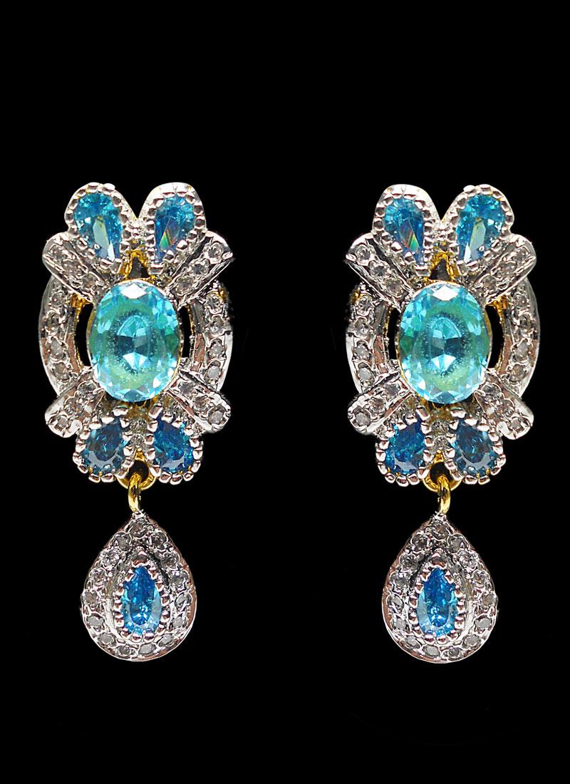 Blue stone earrings |Jewellery Images