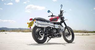 kombinasi size velg dan ban pada motor custom scrambler