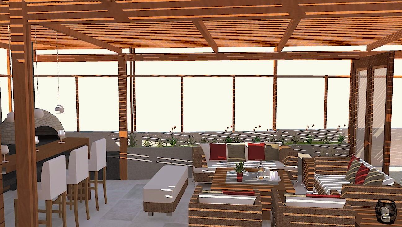 Oniria dise o de terraza con moderna parrilla en huancayo for Diseno de terrazas cerradas