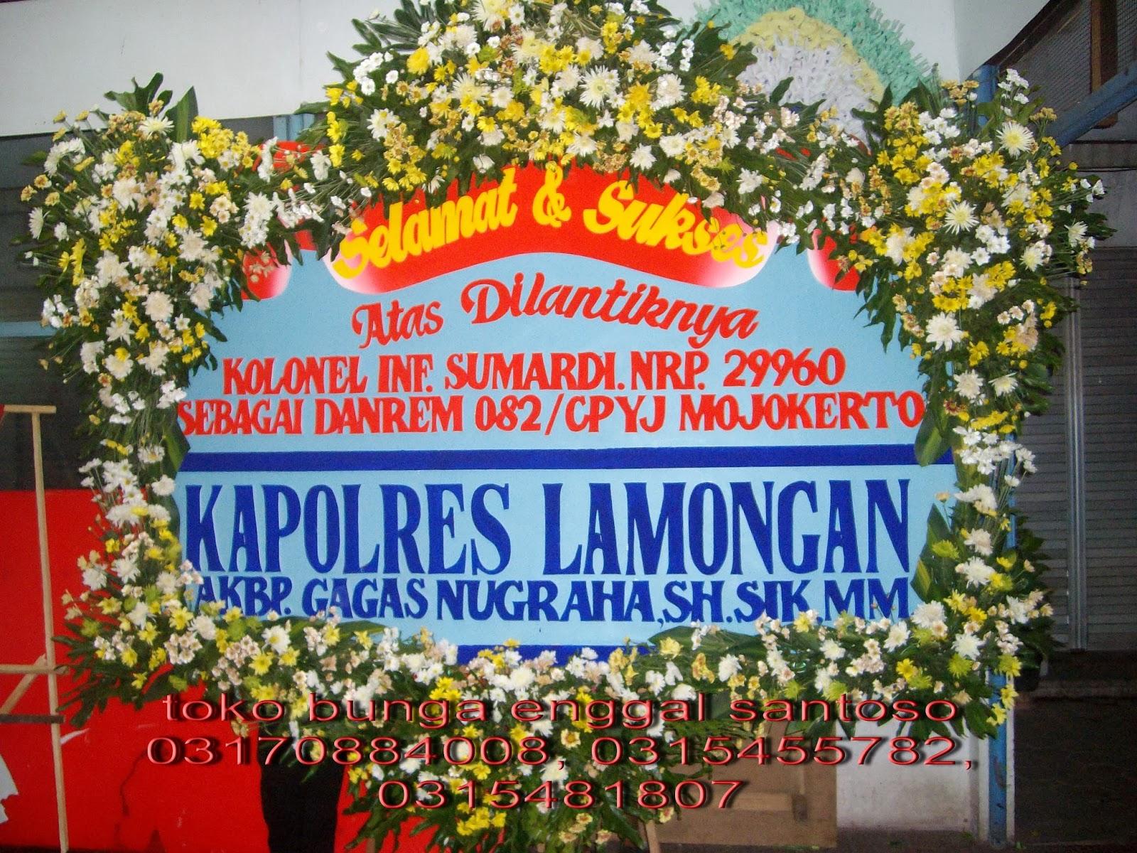 karangan bunga papan ucapan toko bunga gresik enggal santoso florist