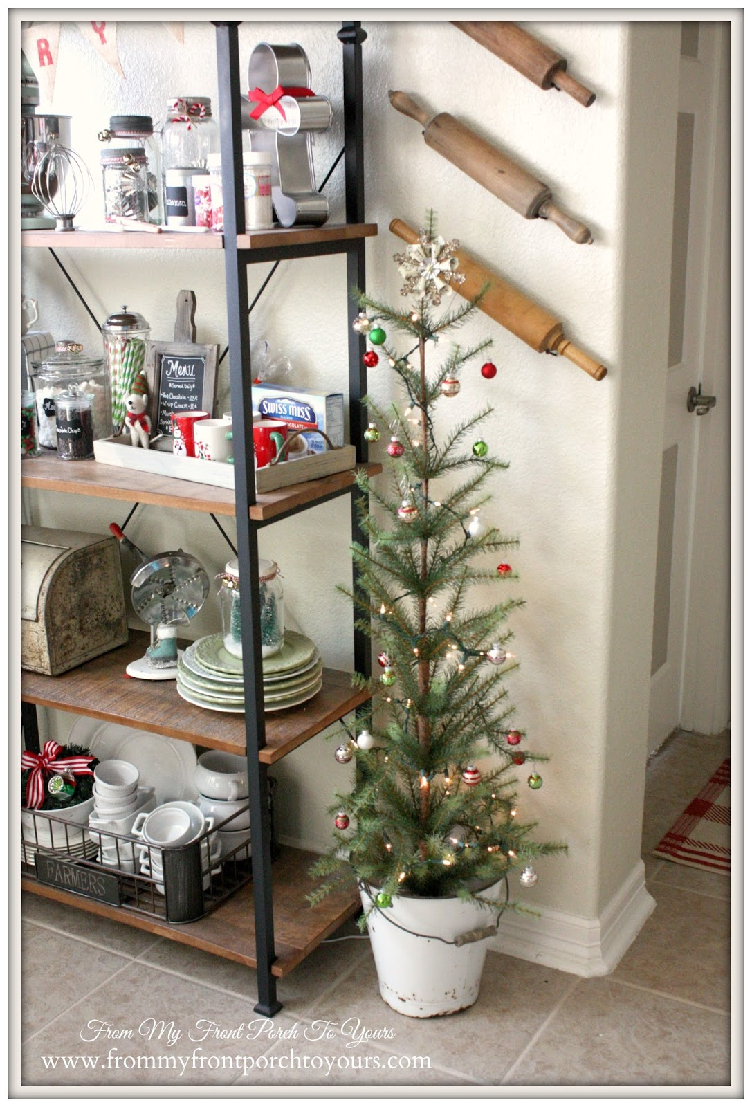 Farmhouse Christmas Tree-French Farmhouse Christmas Kitchen- From My Front Porch To Yours