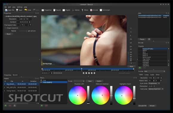 perangkat lunak editor video shotcut