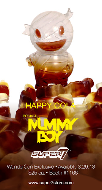 "WonderCon 2013 Exclusive ""Happy Cola"" Pocket Mummy Boy Vinyl Figure by Super7"