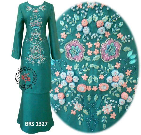 Warna Hijau Turquoise Belah Perempuan Majlis Bukak Hadiah