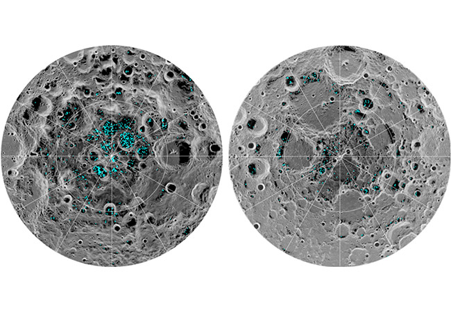 Penelitian Direct evidence of surface exposed water ice in the lunar polar regions