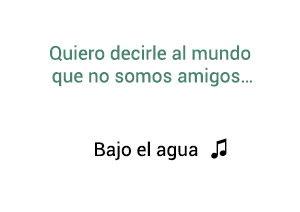 Manuel Medrano Bajo El Agua significado de la canción.