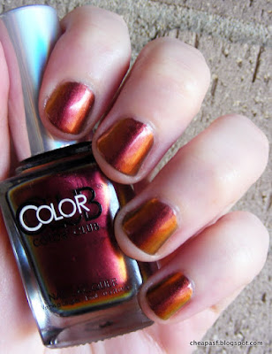 Swatch of Color Club Oil Slick collection: Burnt Out