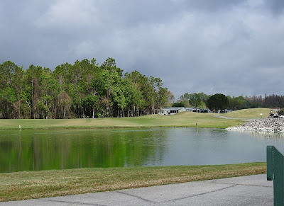 One of the ponds on the golf course at Cypress Lakes.