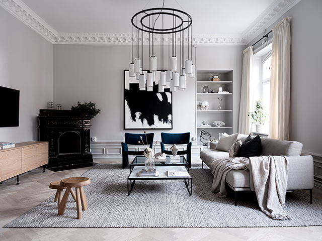 Modern Scandinavian Living for a Family returning to Stockholm