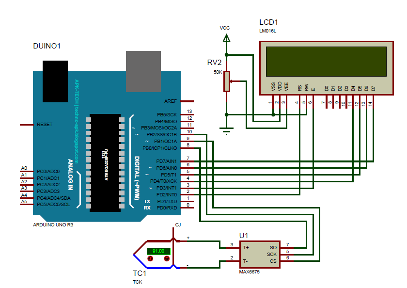Max6675 arduino wiring diagram wiring diagrams schematics project ii 3 digital thermometer using thermocouple based on thermocouple board arduino uno diagram with size schematic arduino lcd wiring thermocouple asfbconference2016 Gallery